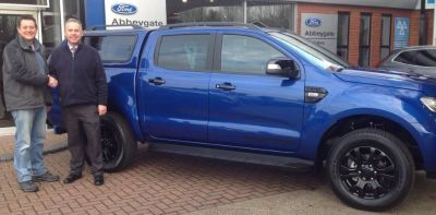 Nathan Defew takes delivery of his new Ford Ranger Wildtrak X 3.2