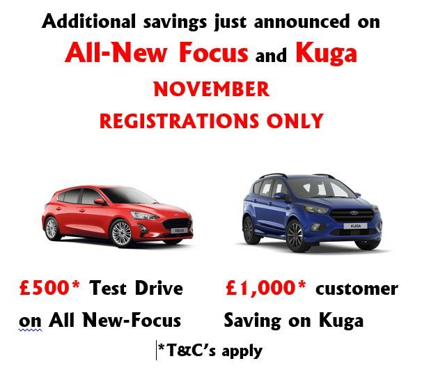 November 2019 Focus Test Drive and Kuga Customer Saving