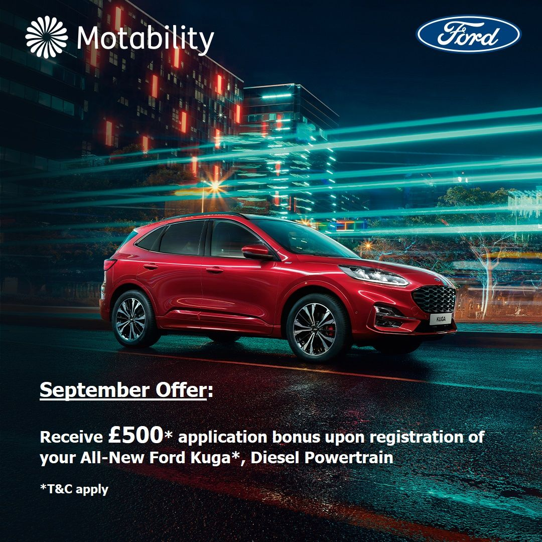 Great News for Motability Customers - September Offer - £500* Application Bonus