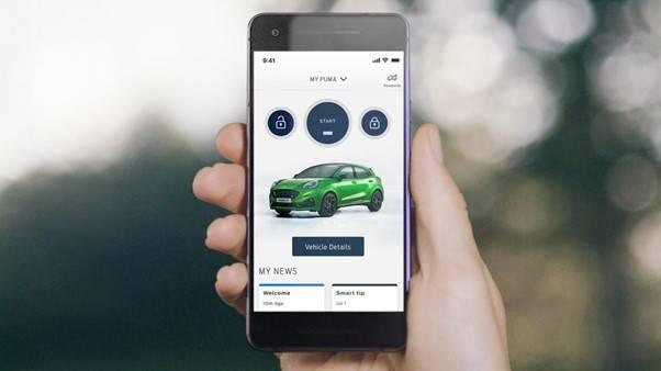 Ford Puma ST shown on FordPass app